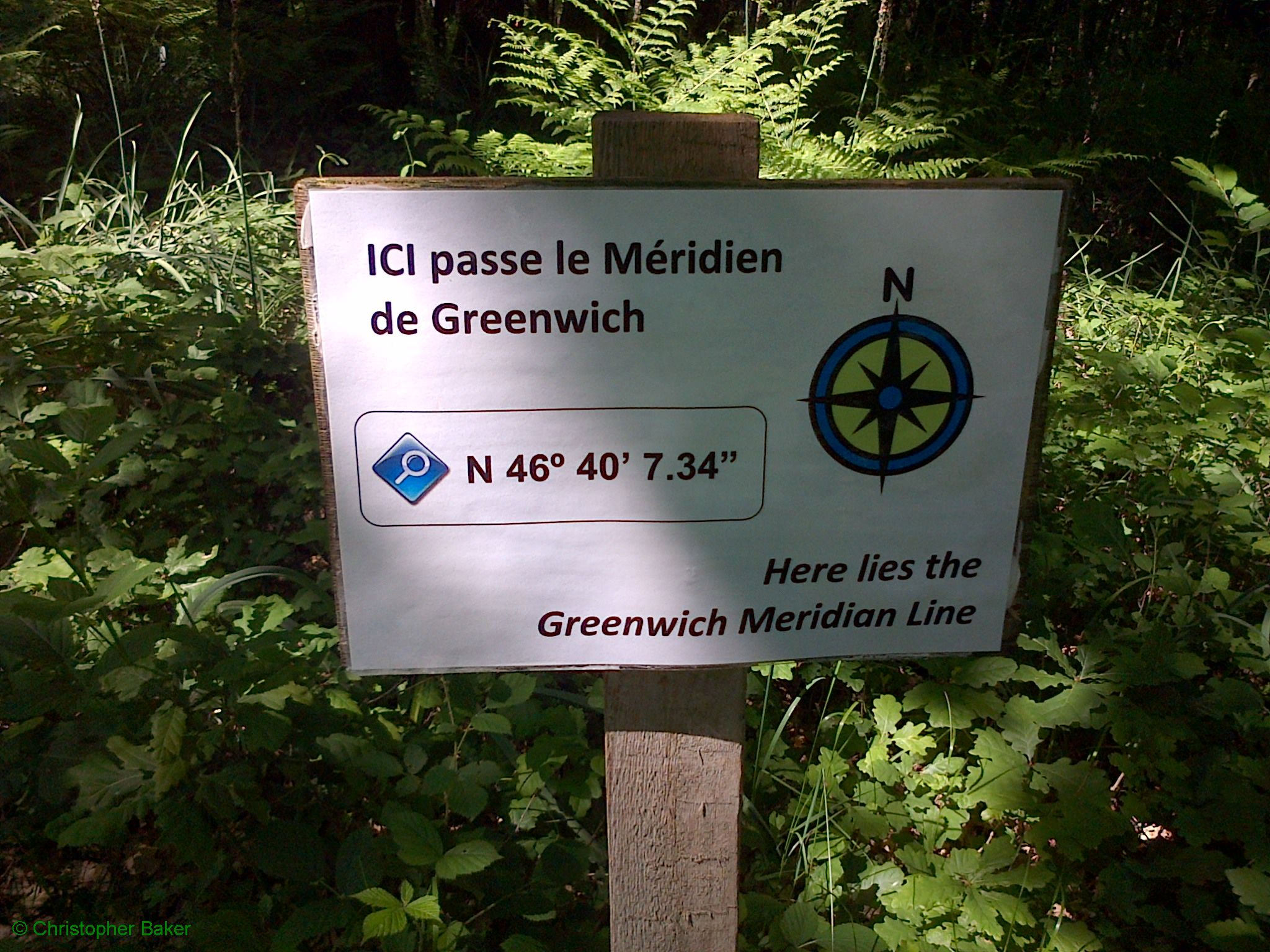 Greenwich Meridian Marker; France; Poitou-Charentes; Chalandray