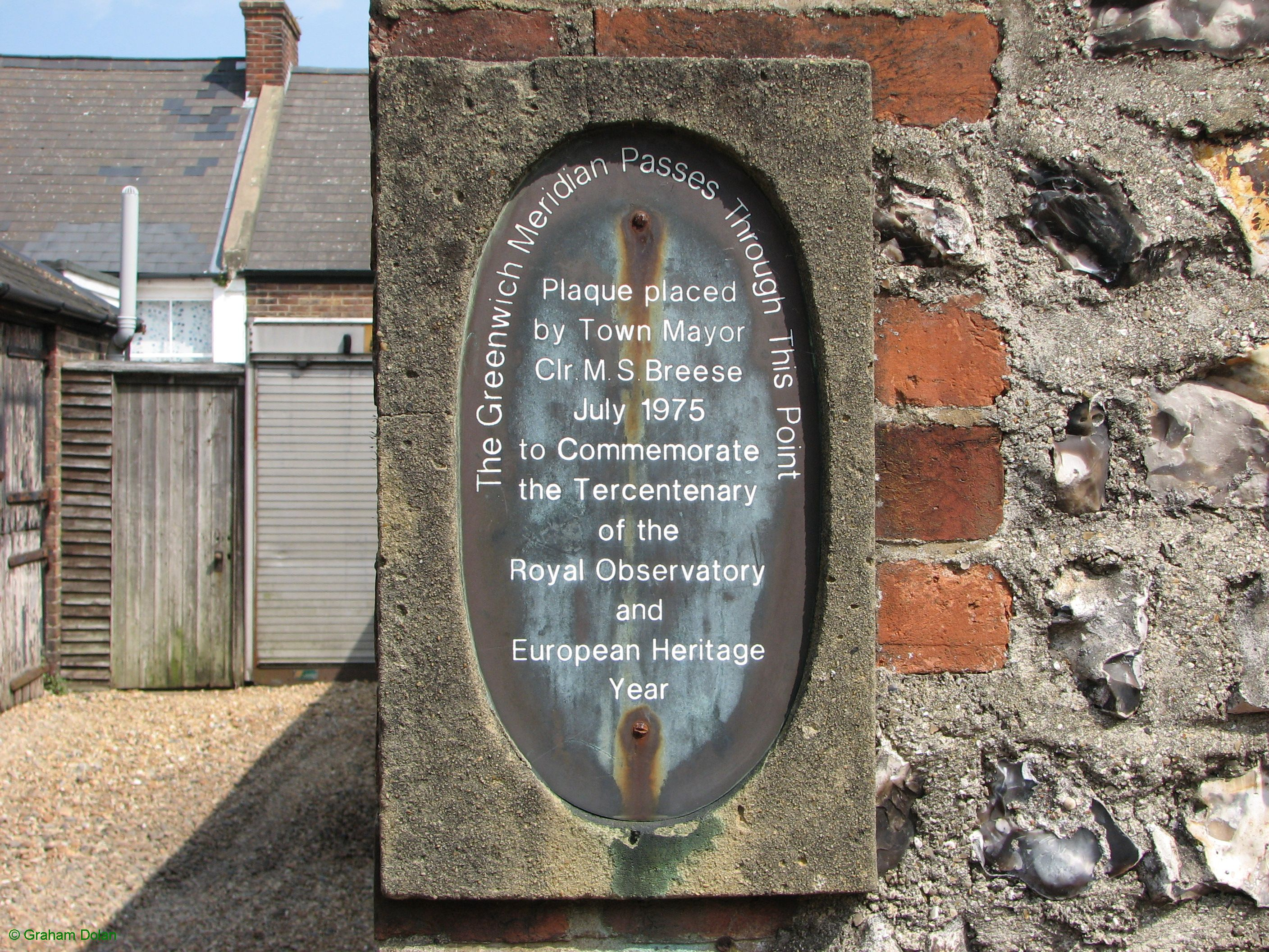 Greenwich Meridian Marker; England; East Sussex; Lewes