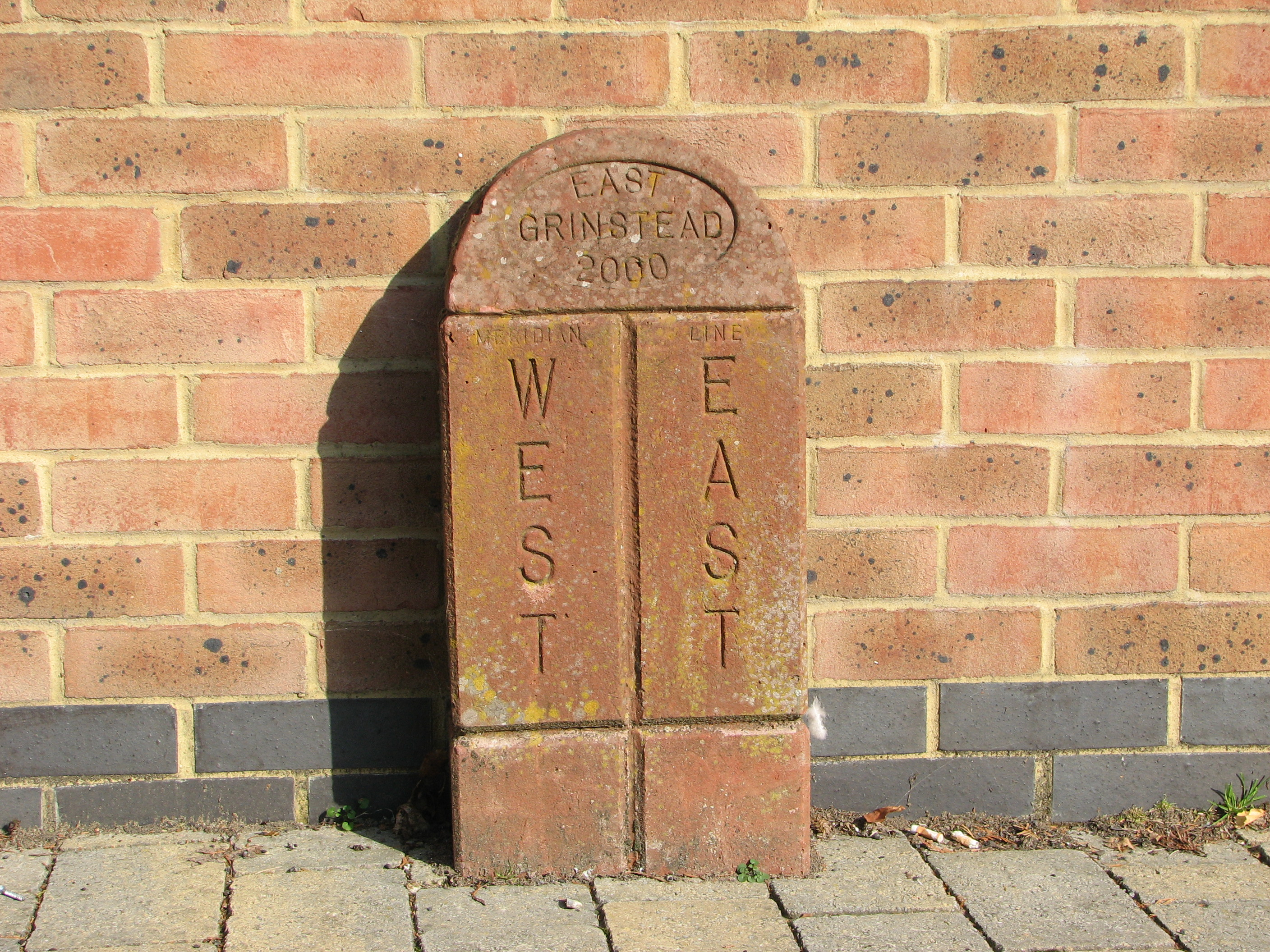 Greenwich Meridian Marker; England; West Sussex; East Grinstead