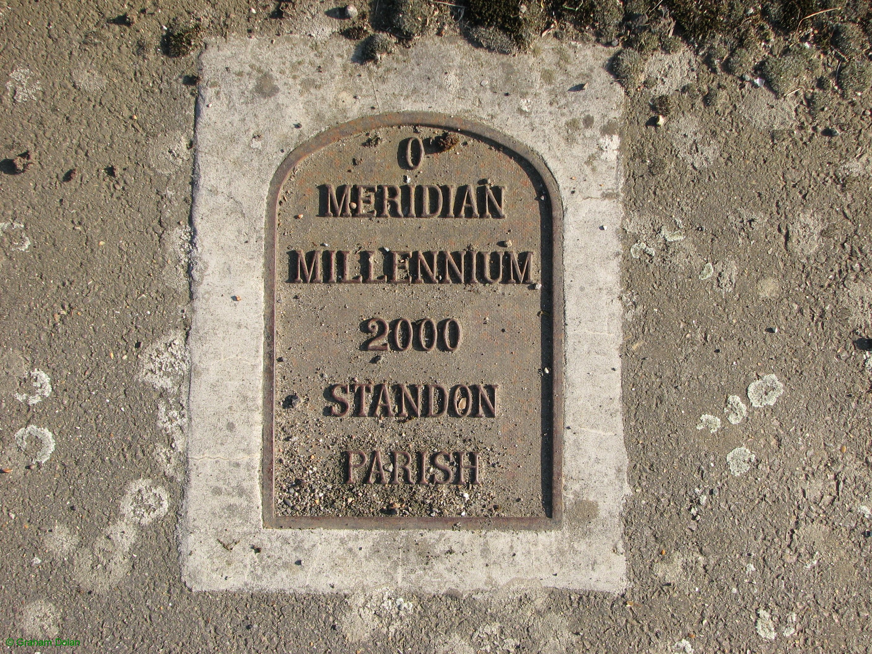 Greenwich Meridian Marker; England; Hertfordshire; Colliers End