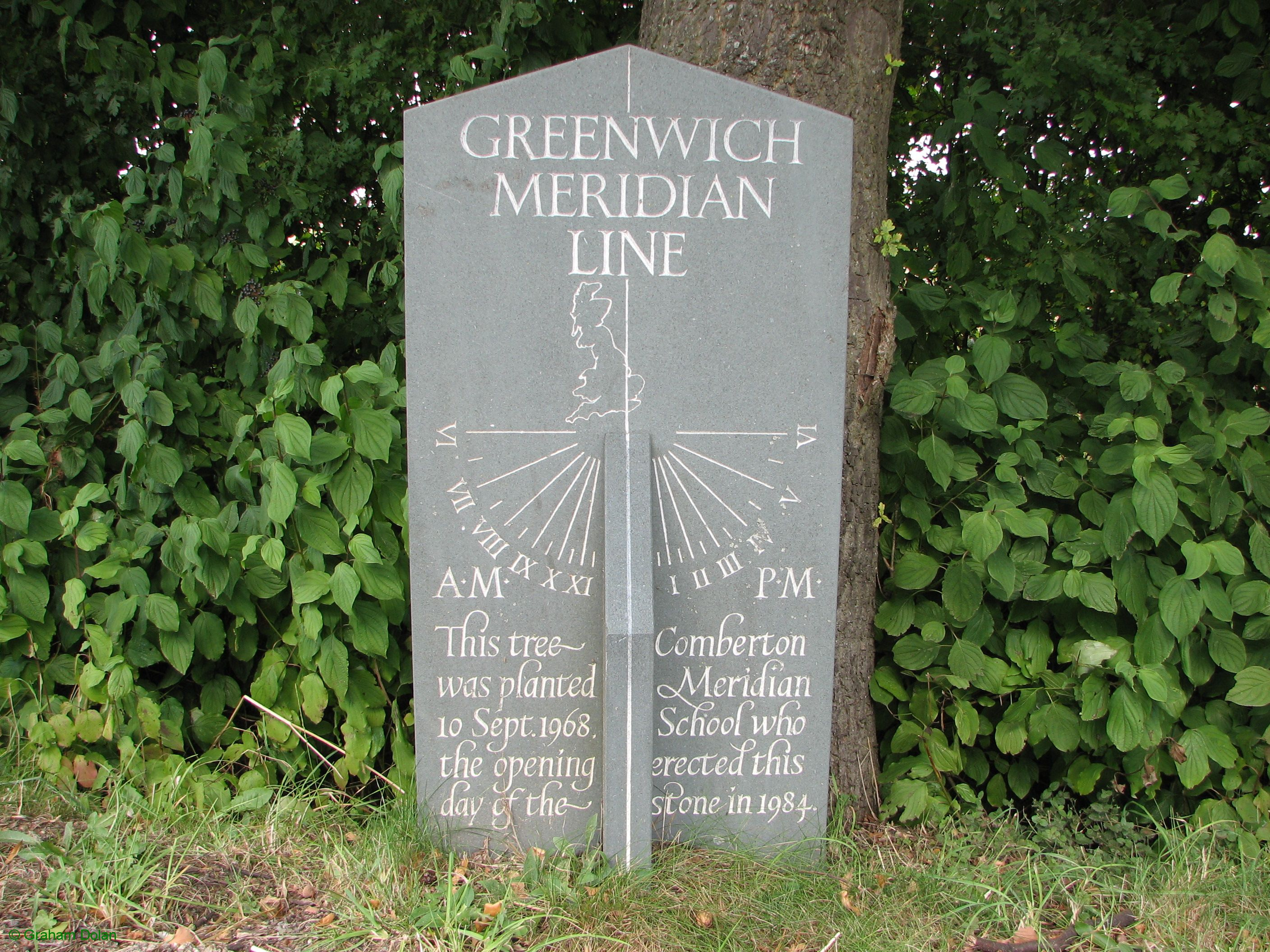 Greenwich Meridian Marker; England; Cambridgeshire; Toft
