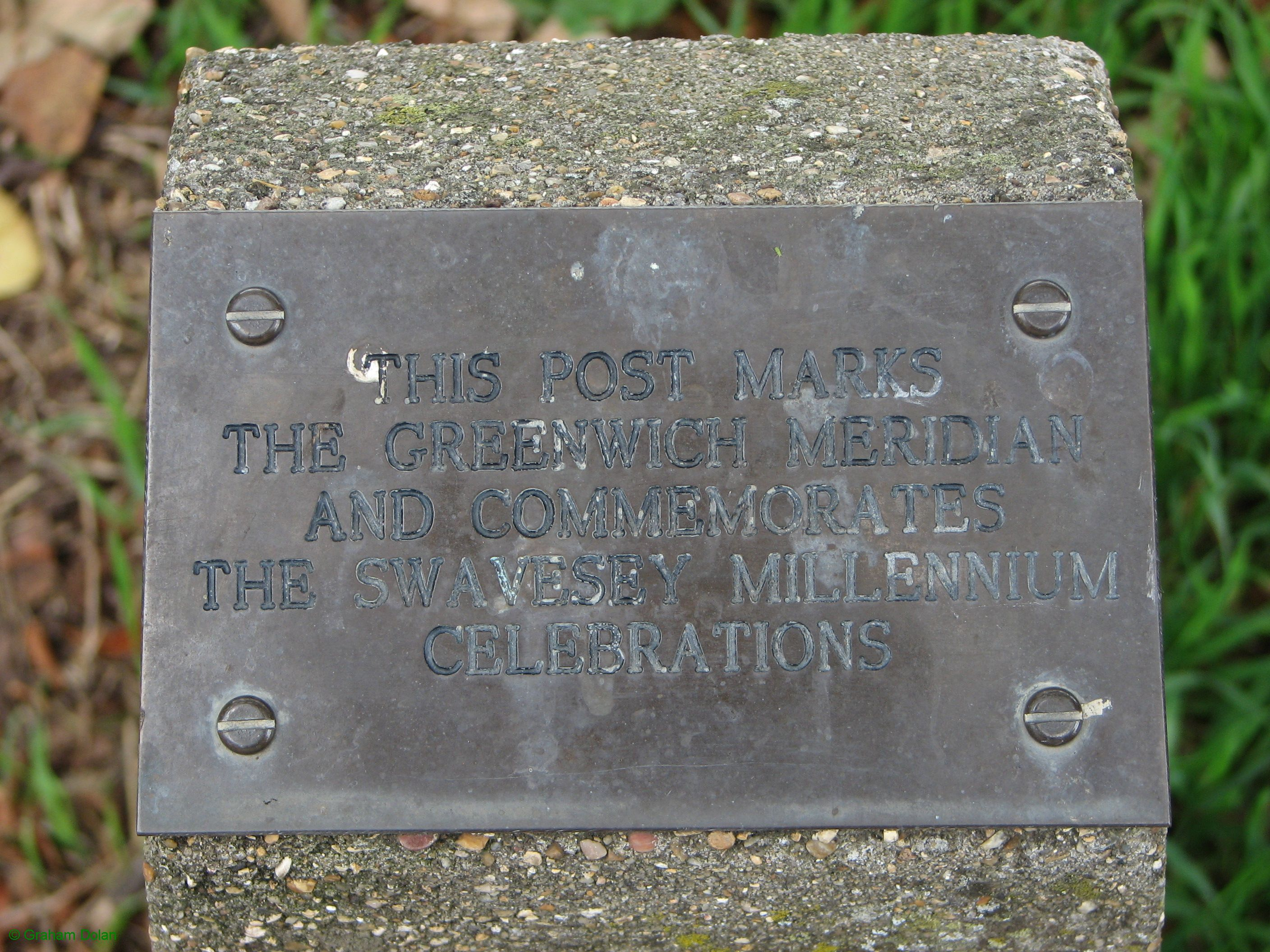 Greenwich Meridian Marker; England; Cambridgeshire; Swavesey