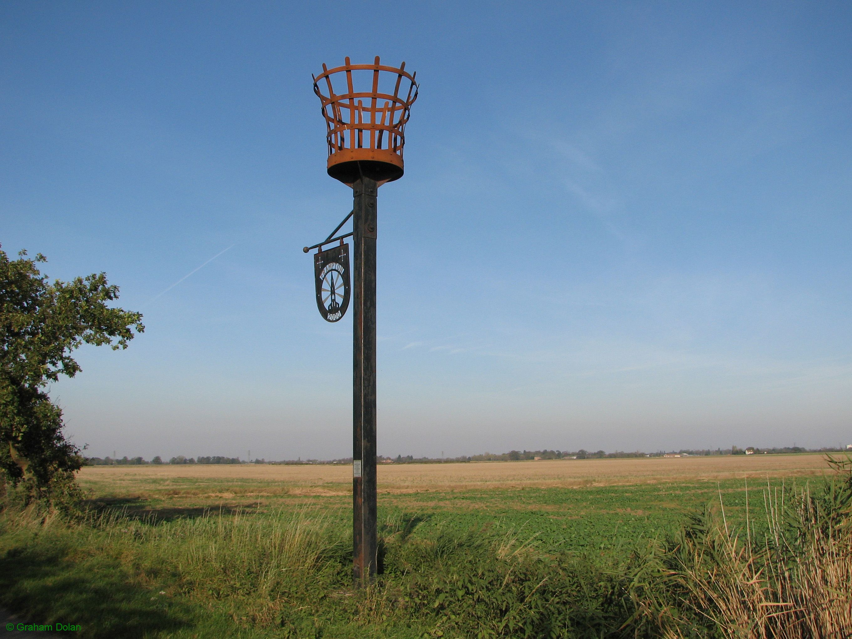 Greenwich Meridian Marker; England; Lincolnshire; Frampton Marsh