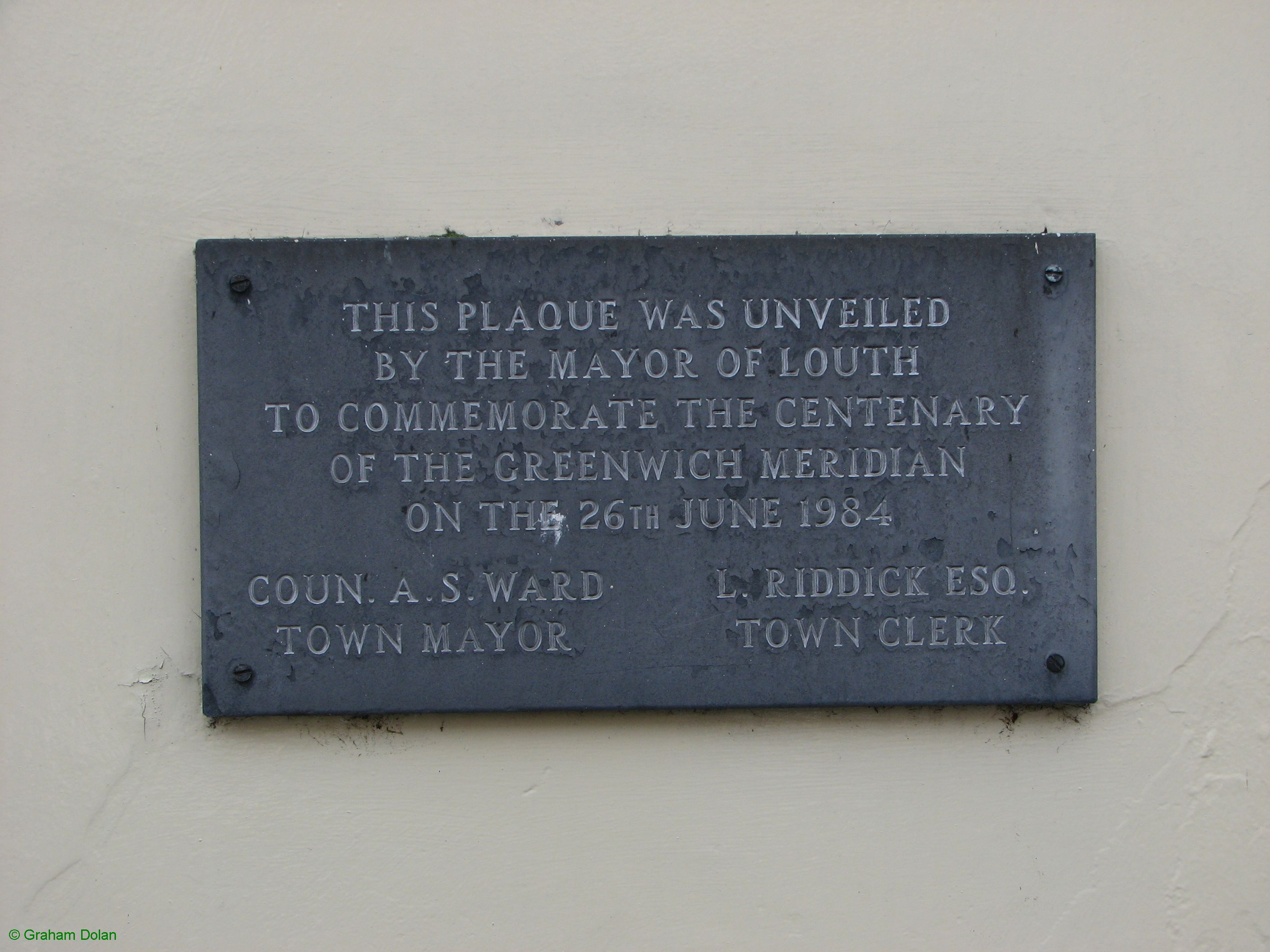 Greenwich Meridian Marker; England; Lincolnshire; Louth