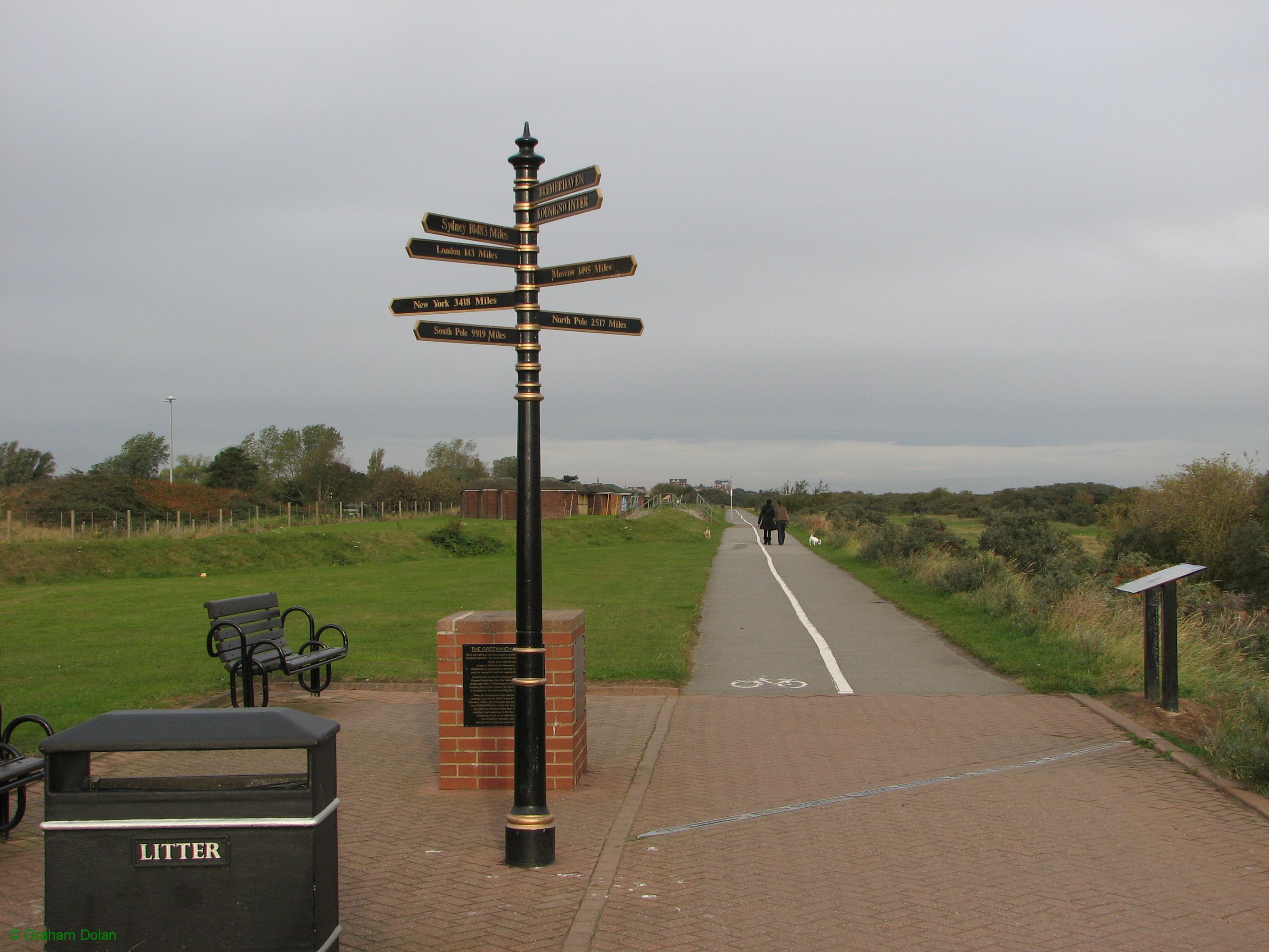 Greenwich Meridian Marker; England; Lincolnshire; Cleethorpes
