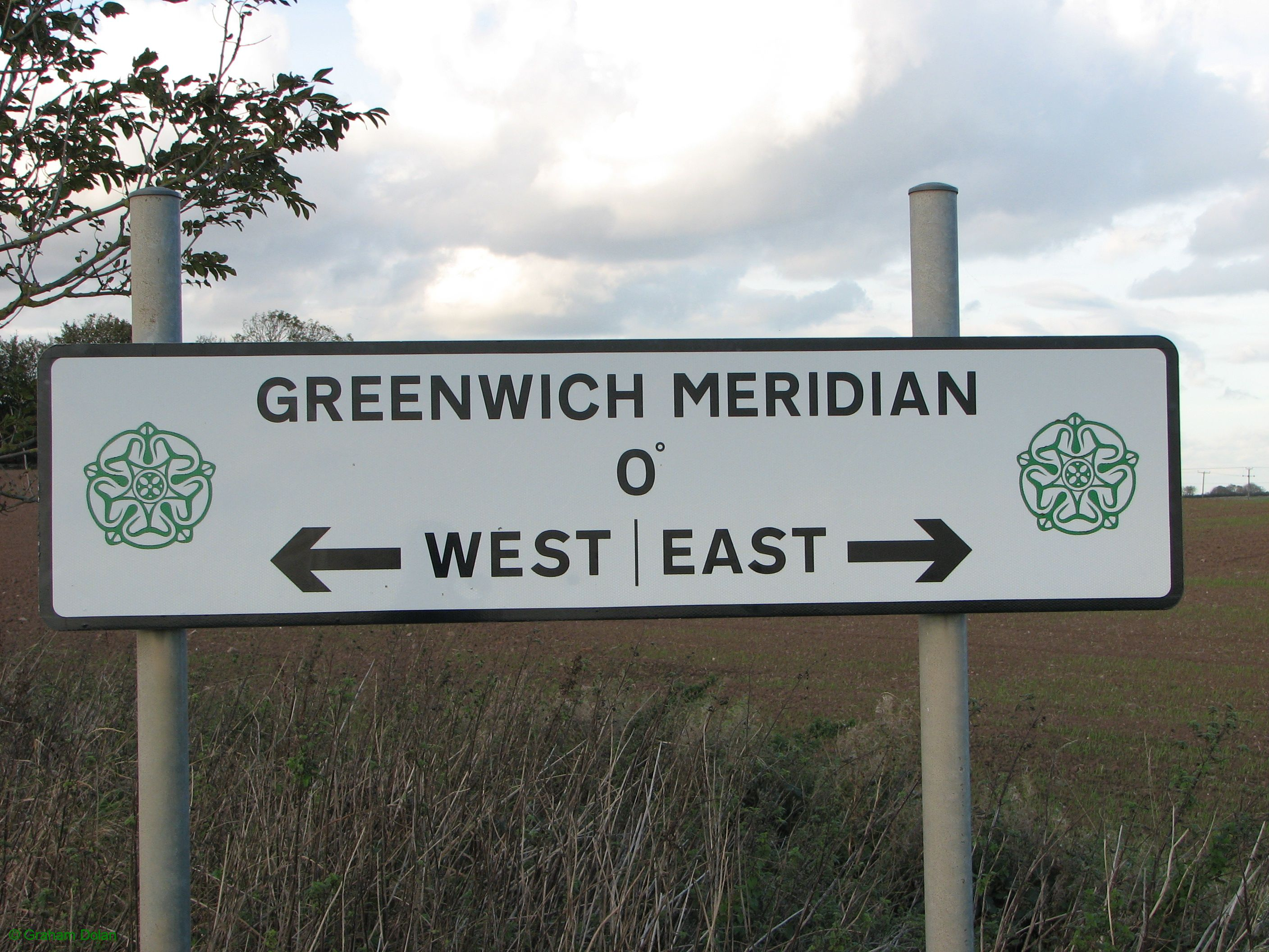 Greenwich Meridian Marker; England; East Yorkshire; Patrington