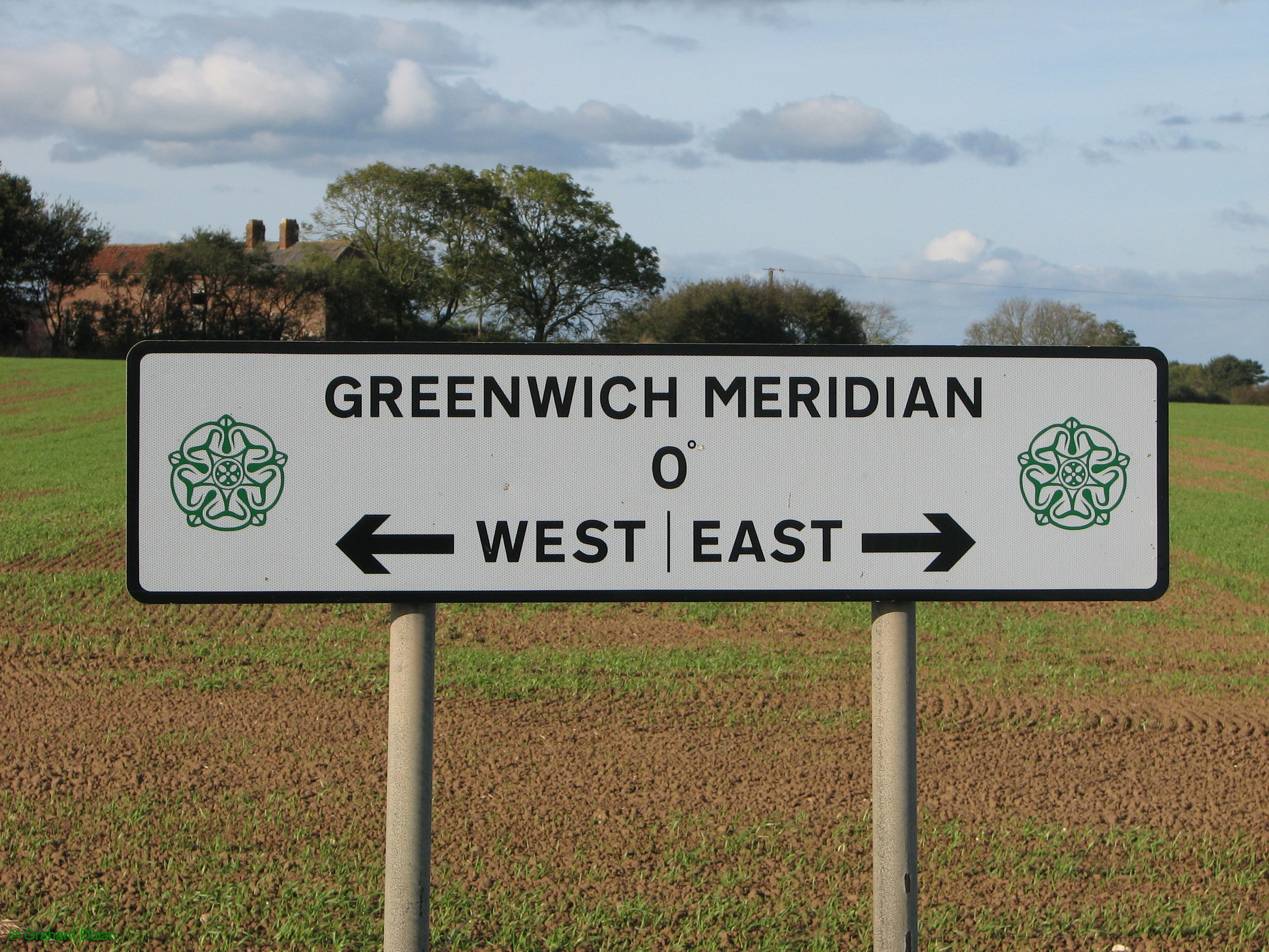 Greenwich Meridian Marker; England; East Yorkshire; Withernsea
